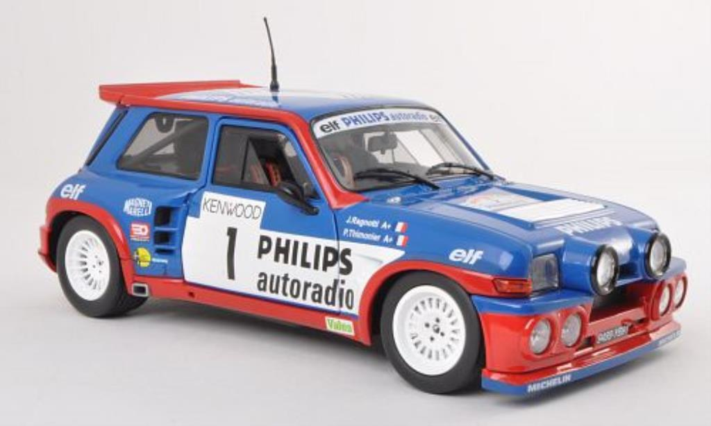 Renault 5 1/18 Solido Maxi Turbo No.1 Tour de France Auto 198 /P.Thimonier miniature