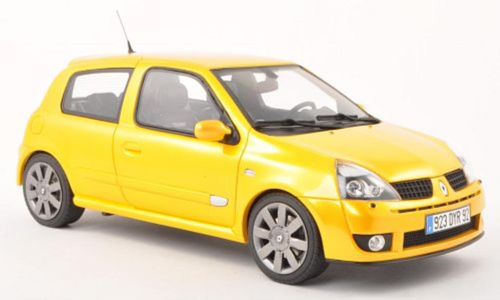 Renault Clio 1/18 Ottomobile 2 Phase 3 jaune 2004 miniature