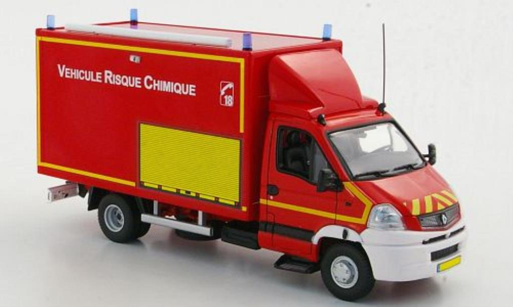 renault mascott miniature pompiers vehicule risque chimique feuerwehr f 2009 norev 1 43. Black Bedroom Furniture Sets. Home Design Ideas