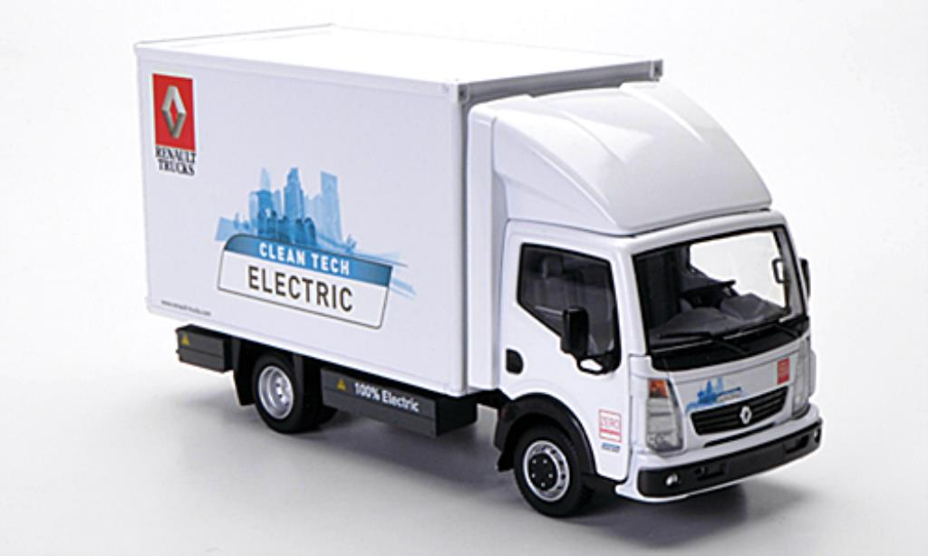 Renault Maxity 1/43 Eligor Electric Kasten Clean Tech Electric blanche miniature