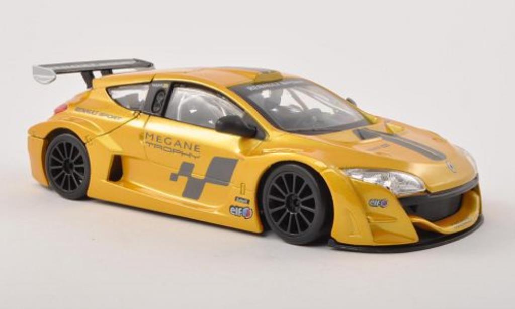 Renault Megane Trophy 1/24 Burago amarillo coche miniatura