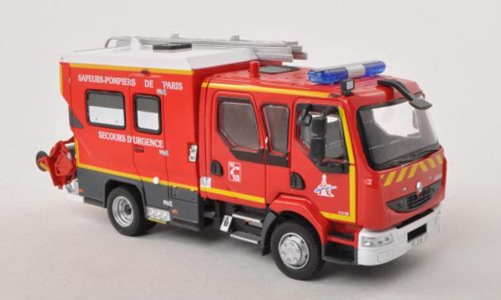 renault midlum miniature 220 doka sapeurs pompiers de paris secours durgence feuerwehr f. Black Bedroom Furniture Sets. Home Design Ideas