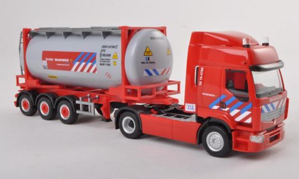 Renault Premium 1/87 Herpa Brandweer Feuerwehr (NL) Tankcontainer-SZ miniature