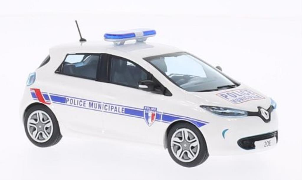 renault zoe miniature police municipale polizei f eligor 1 43 voiture. Black Bedroom Furniture Sets. Home Design Ideas