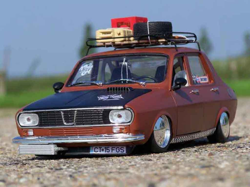 Renault 12 Gordini 1/18 Solido old school tuning miniature