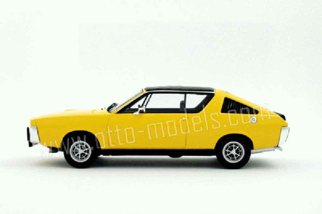 renault 17 gordini yellow 1977 ottomobile diecast model car 1 18 buy sell diecast car on. Black Bedroom Furniture Sets. Home Design Ideas