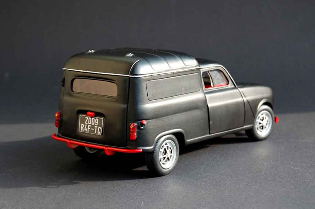 Renault 4L f4 fourgonette tuning Norev. Renault 4L f4 fourgonette miniature miniature 1/18