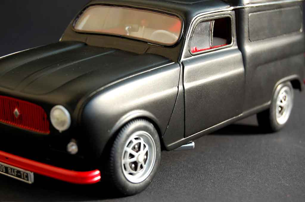 Auto miniature Renault 4L f4 fourgonette tuning Norev. Renault 4L f4 fourgonette miniature 1/18