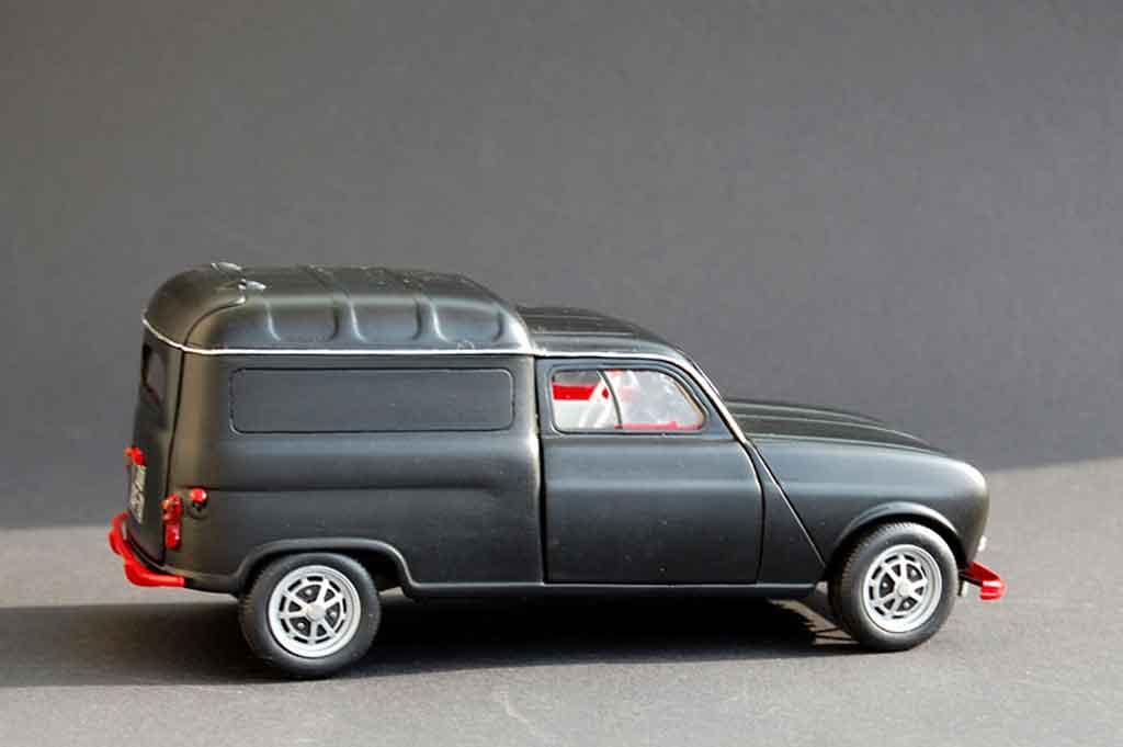Renault 4 F4 fourgonette tuning Norev. Renault 4 F4 fourgonette miniature modèle réduit 1/18