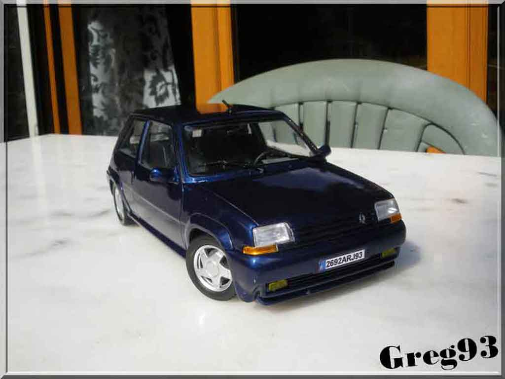 renault 5 gt turbo blau lagon phase 2 norev modellauto 1. Black Bedroom Furniture Sets. Home Design Ideas