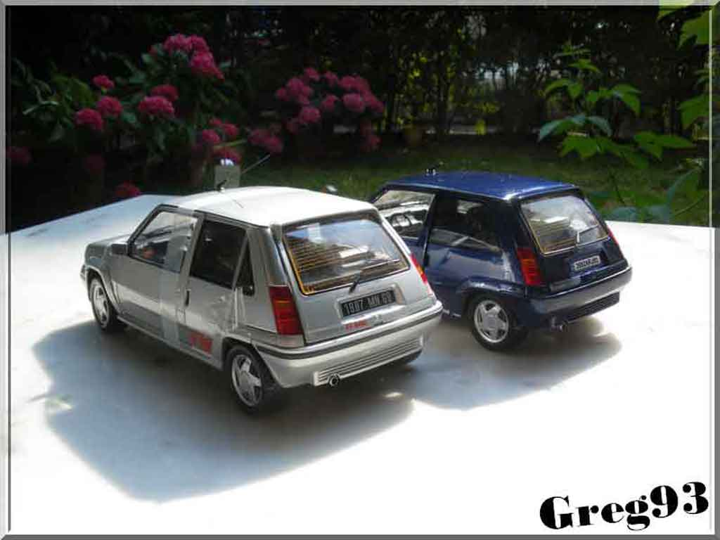 renault 5 gt turbo miniature bleu lagon phase 2 norev 1 18 voiture. Black Bedroom Furniture Sets. Home Design Ideas