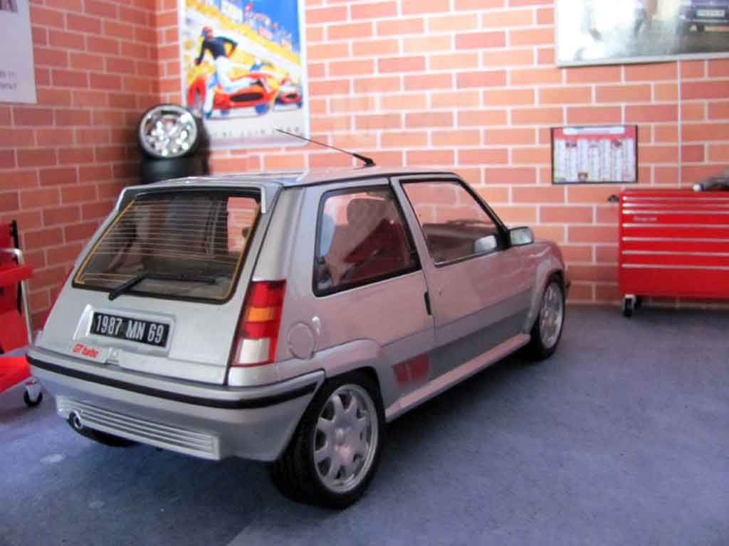 Renault 5 1/18 Norev GT Turbo phase 2 grise jantes speedline