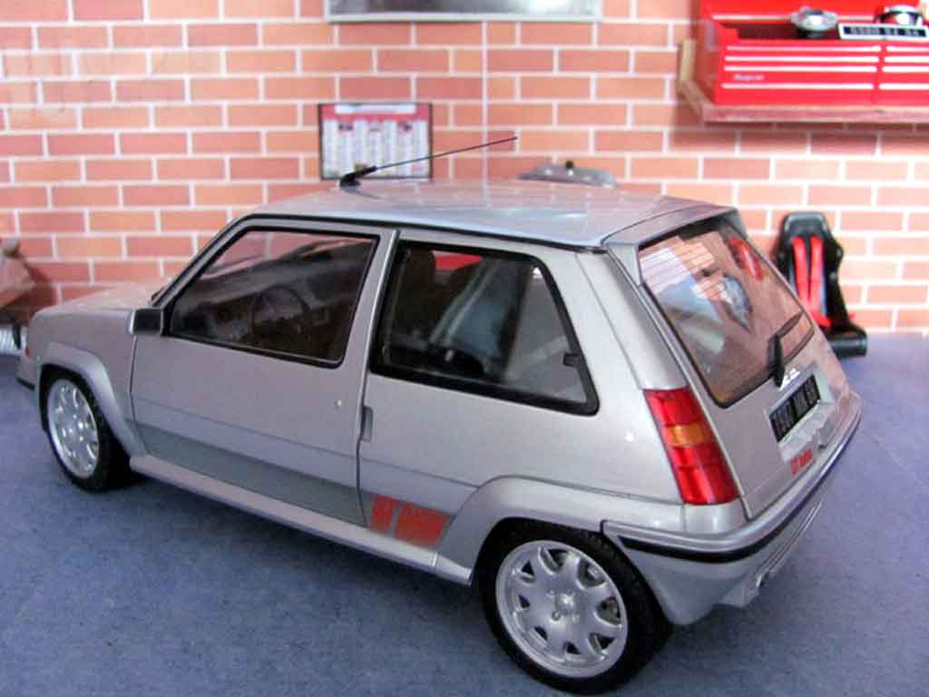 renault 5 gt turbo phase 2 gray wheels speedline norev diecast model car 1 18 buy sell diecast. Black Bedroom Furniture Sets. Home Design Ideas