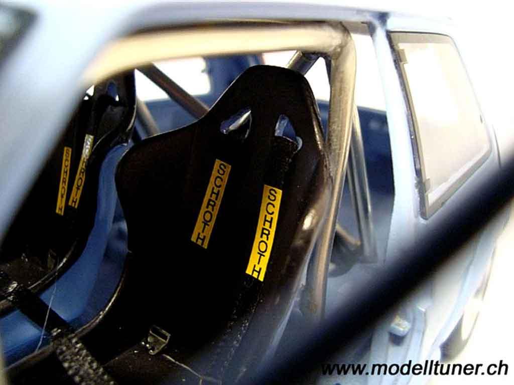 Renault 5 1/18 Norev GT Turbo bleu jantes 13 pouces