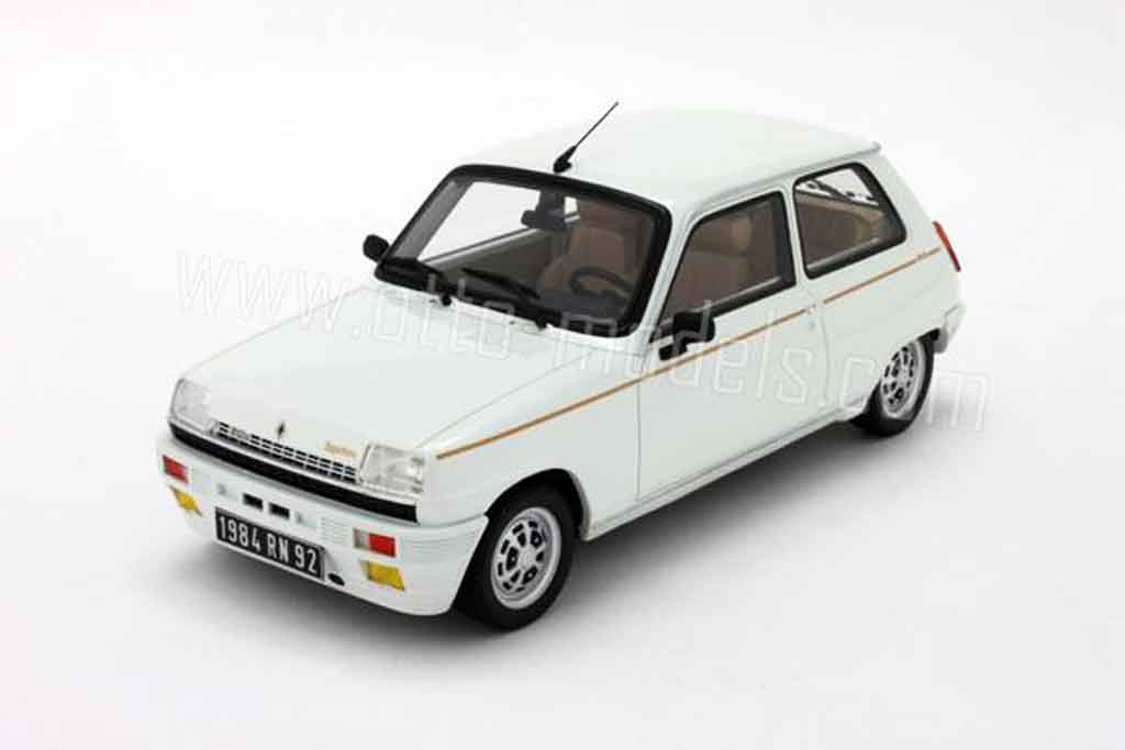 renault 5 turbo miniature laureate blanche 1984 ottomobile 1 18 voiture. Black Bedroom Furniture Sets. Home Design Ideas