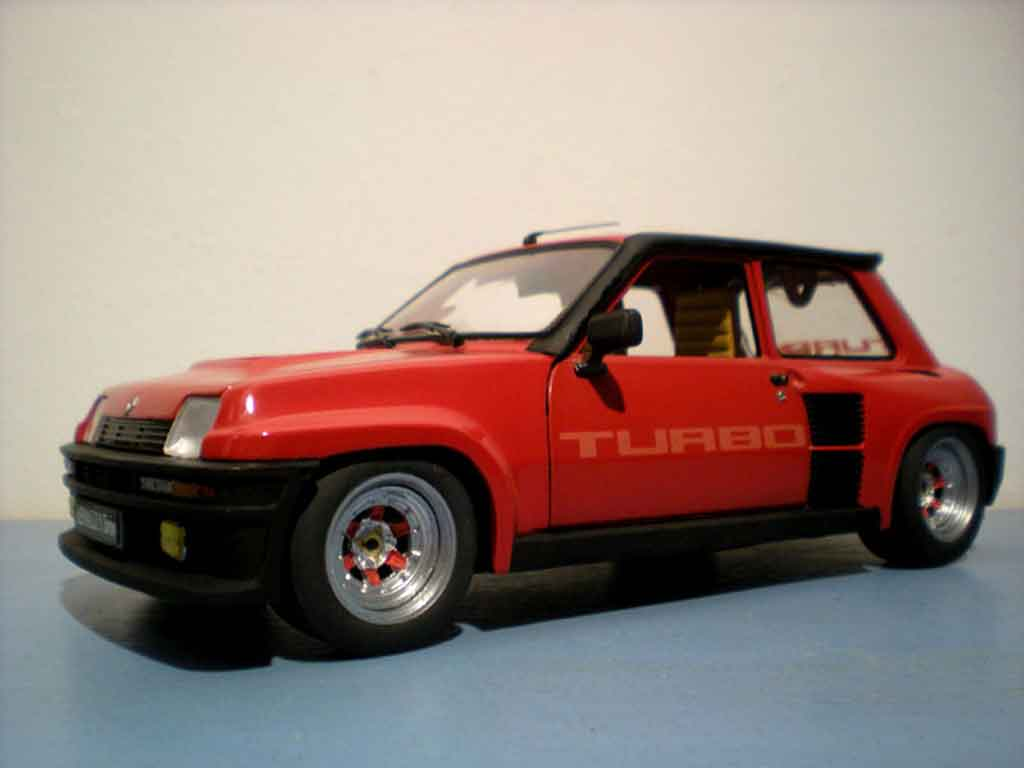 Miniature Renault 5 Turbo rouge jantes gotti 073r tuning Universal Hobbies. Renault 5 Turbo rouge jantes gotti 073r miniature 1/18