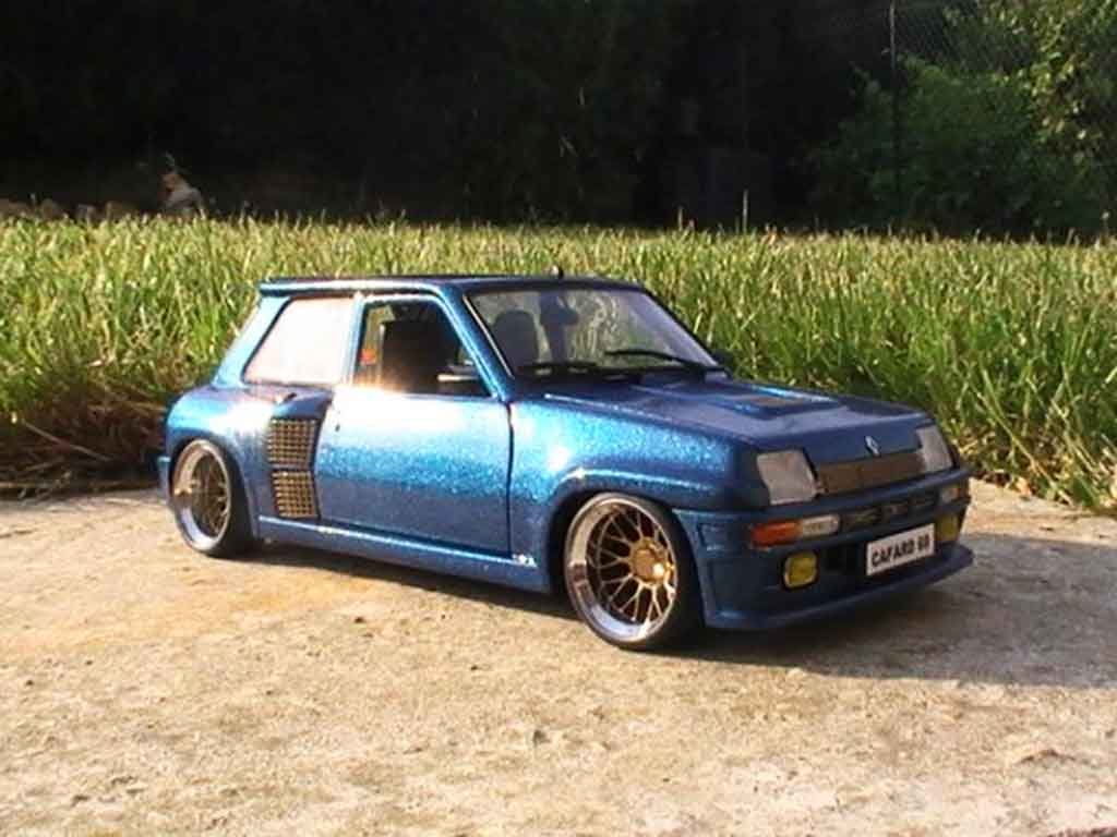 Miniature Renault 5 Turbo version williams tuning Universal Hobbies. Renault 5 Turbo version williams miniature 1/18