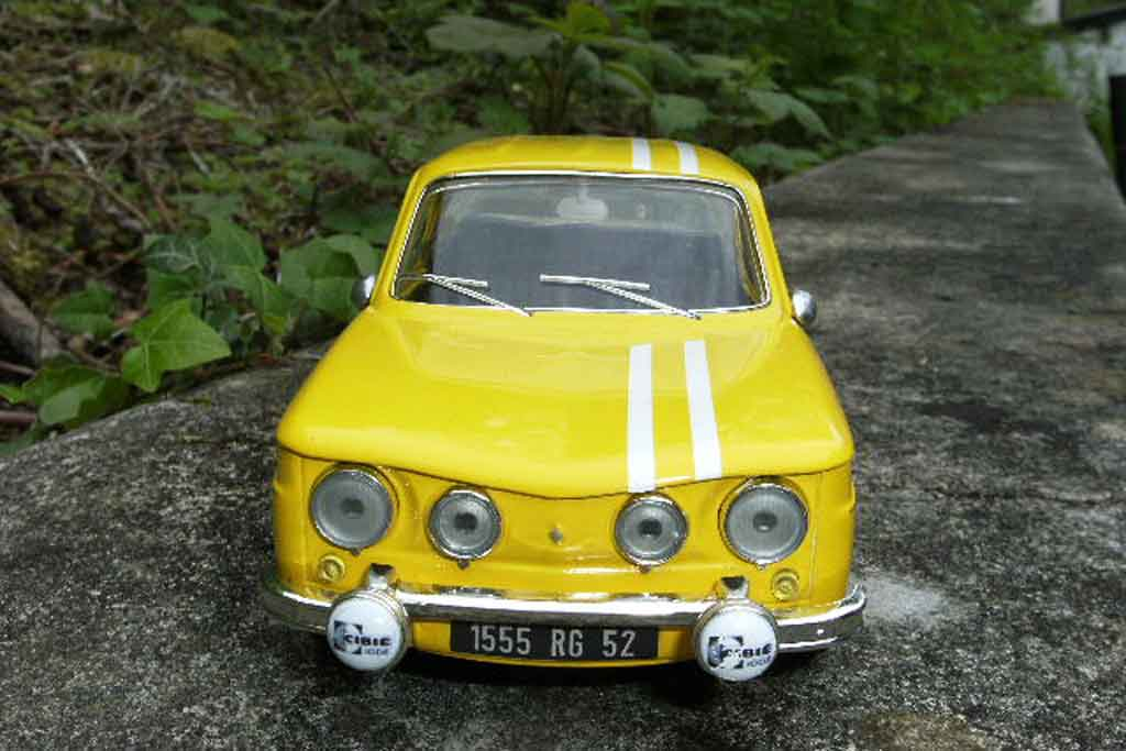 Renault 8 Gordini 1/18 Solido rallye monte-carlo 1969 tuning modellino in miniatura