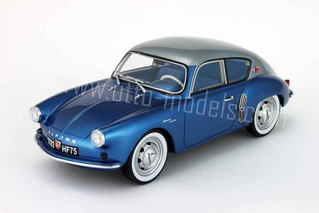 renault alpine a106 miniature mille miles 1958 grise et bleue ottomobile 1 18 voiture. Black Bedroom Furniture Sets. Home Design Ideas