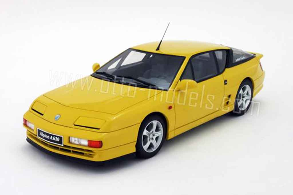 renault alpine a610 miniature turbo jaune 1993 ottomobile 1 18 voiture. Black Bedroom Furniture Sets. Home Design Ideas