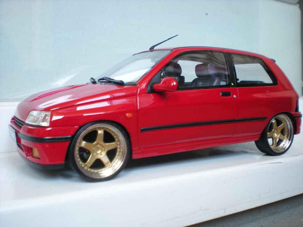 renault clio 16s miniature 1991 rouge jantes 17 pouces ottomobile 1 18 voiture. Black Bedroom Furniture Sets. Home Design Ideas