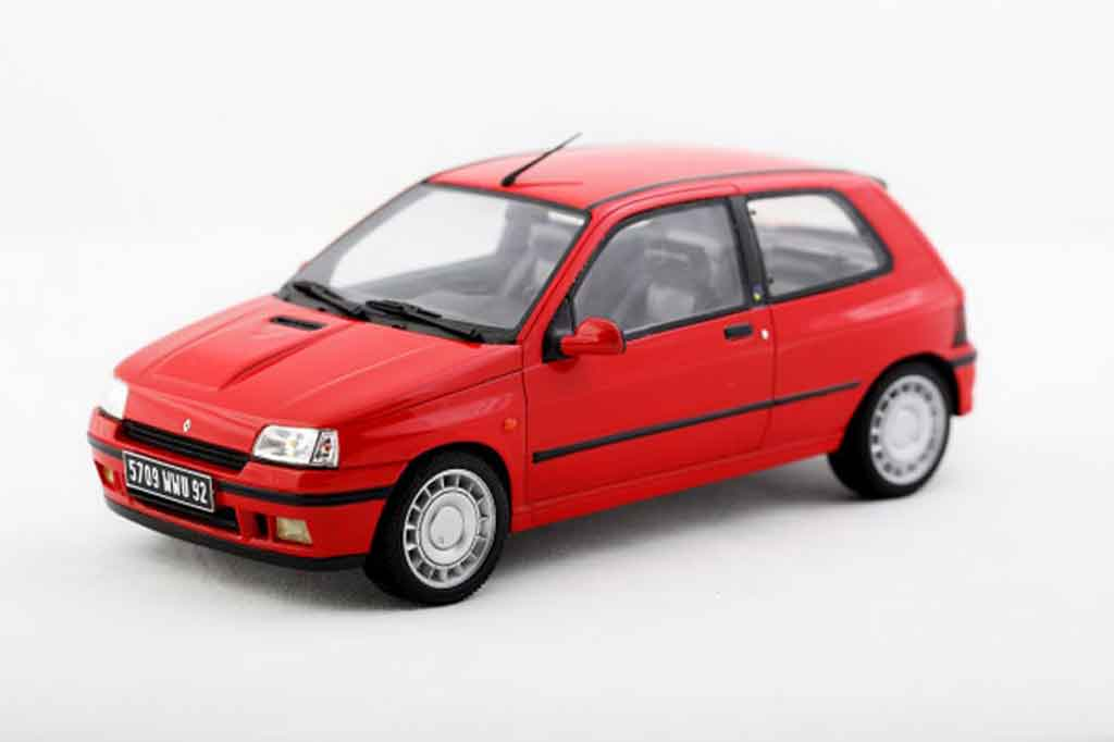 renault clio 16s miniature 1991 rouge ottomobile 1 18 voiture. Black Bedroom Furniture Sets. Home Design Ideas