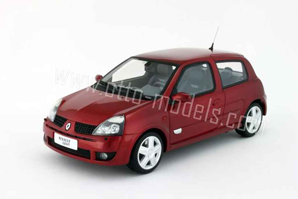 Renault Clio 2 RS 1/18 Ottomobile phase 2 rouge lucifer 2001 miniature