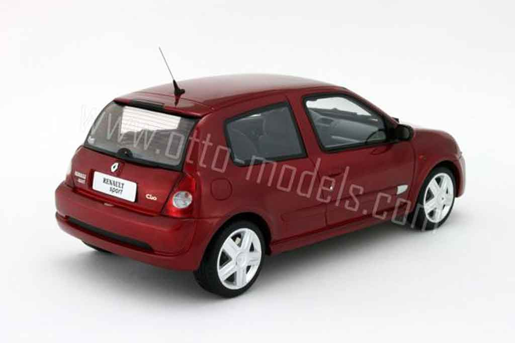 renault clio 2 rs miniature phase 2 rouge lucifer 2001 ottomobile 1 18 voiture. Black Bedroom Furniture Sets. Home Design Ideas