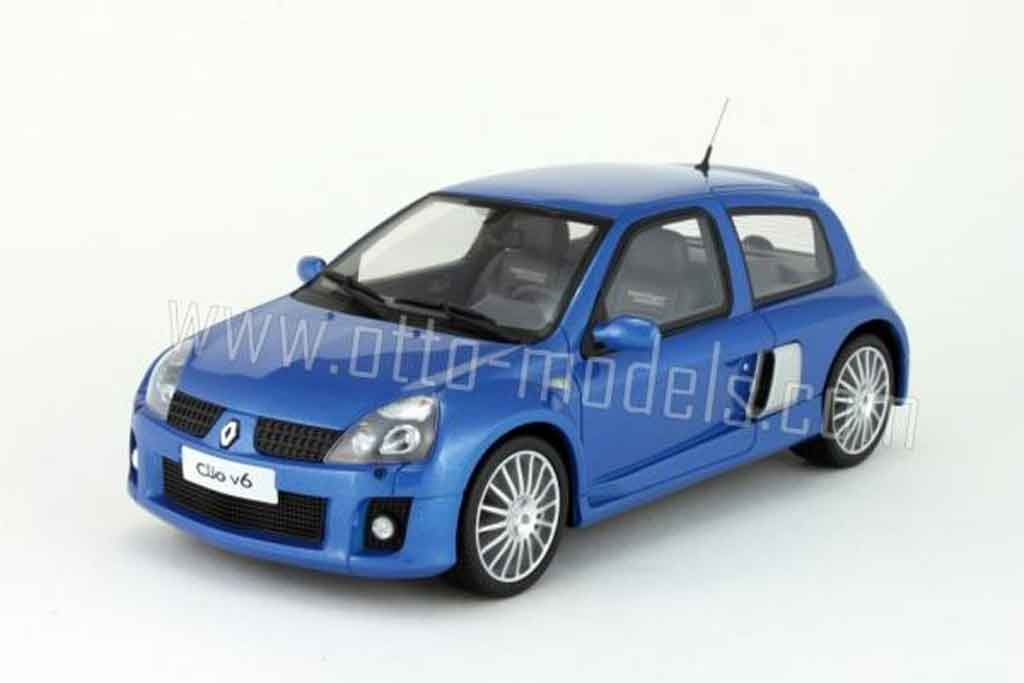Renault Clio V6 1/18 Ottomobile phase 2 bleue 2003 miniature
