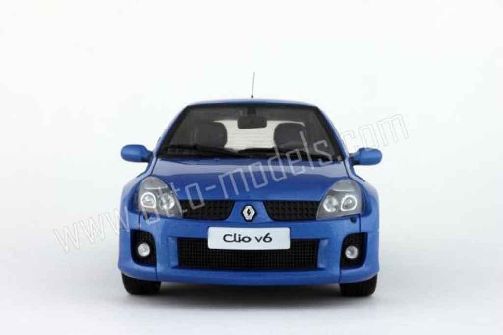 renault clio v6 miniature phase 2 bleue 2003 ottomobile 1 18 voiture. Black Bedroom Furniture Sets. Home Design Ideas