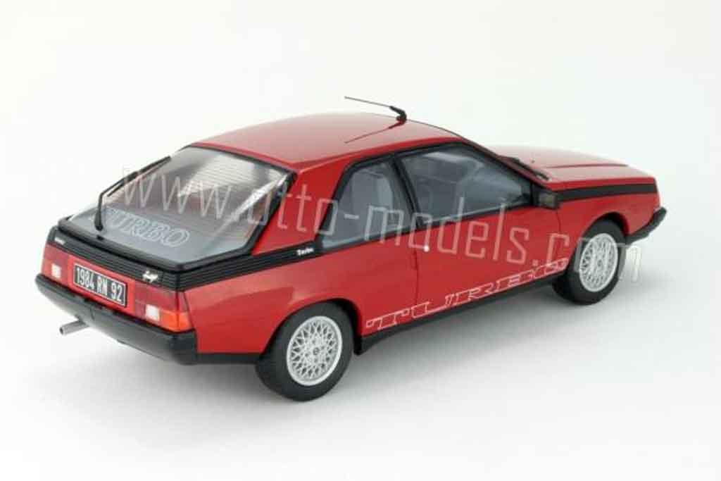 Renault Fuego 1/18 Ottomobile turbo phase 2 1983 rouge