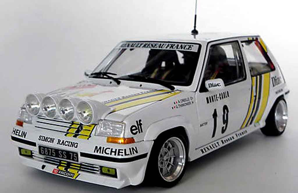 renault 5 gt turbo rallye jantes 13 alu norev coches miniaturas 1 18 comprar venta coches. Black Bedroom Furniture Sets. Home Design Ideas