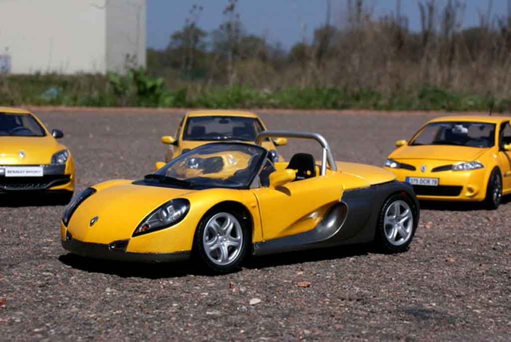 Renault Spider 1/18 Anson yellow sirius tuning diecast model cars