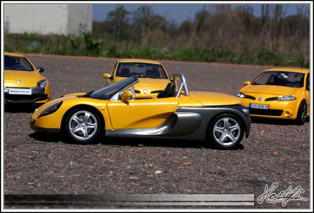 Renault Spider jaune sirius tuning Anson. Renault Spider jaune sirius miniature miniature 1/18