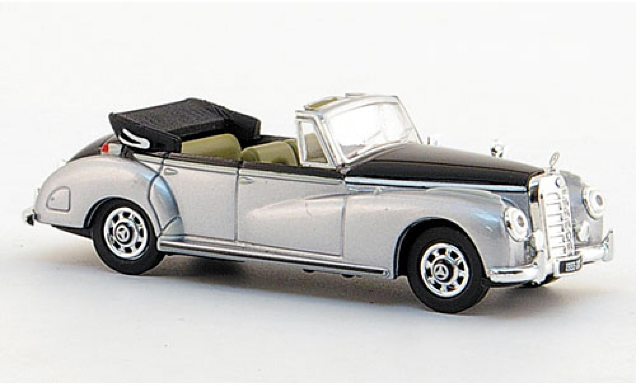 Mercedes 300 1/87 Ricko C Cabriolet grise/noire 1955