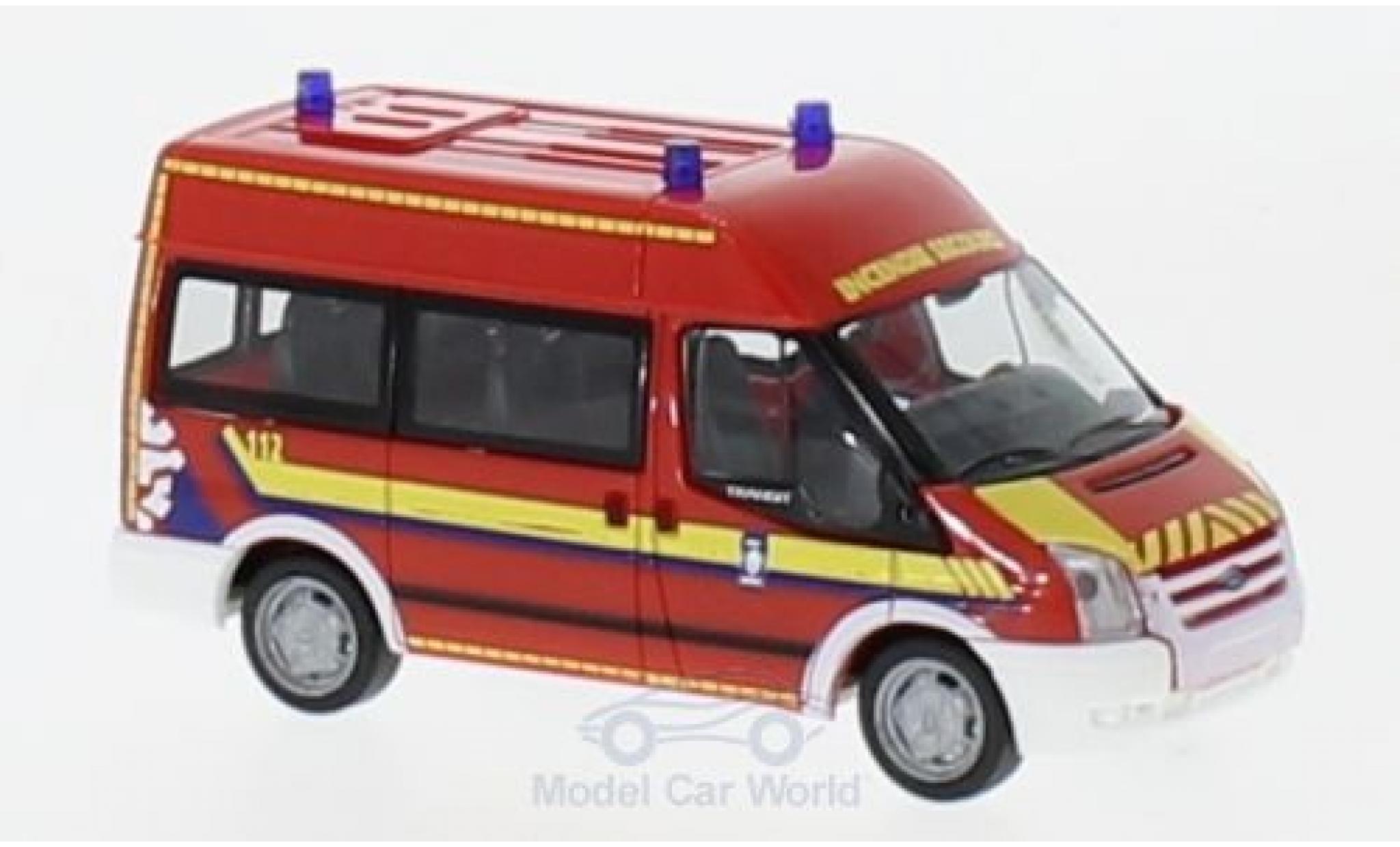Ford Transit 1/87 Rietze Bus Verwaltung Rettungsdienst Luxemburg-CGDIS 2006