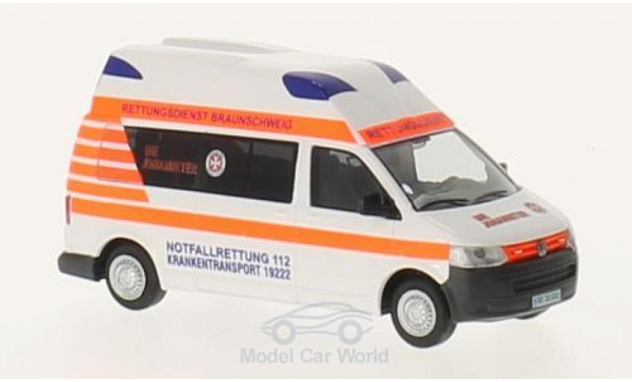 Volkswagen T5 1/87 Rietze Ambulanz Mobil Hornis Silver Die Johanniter Braunschweig