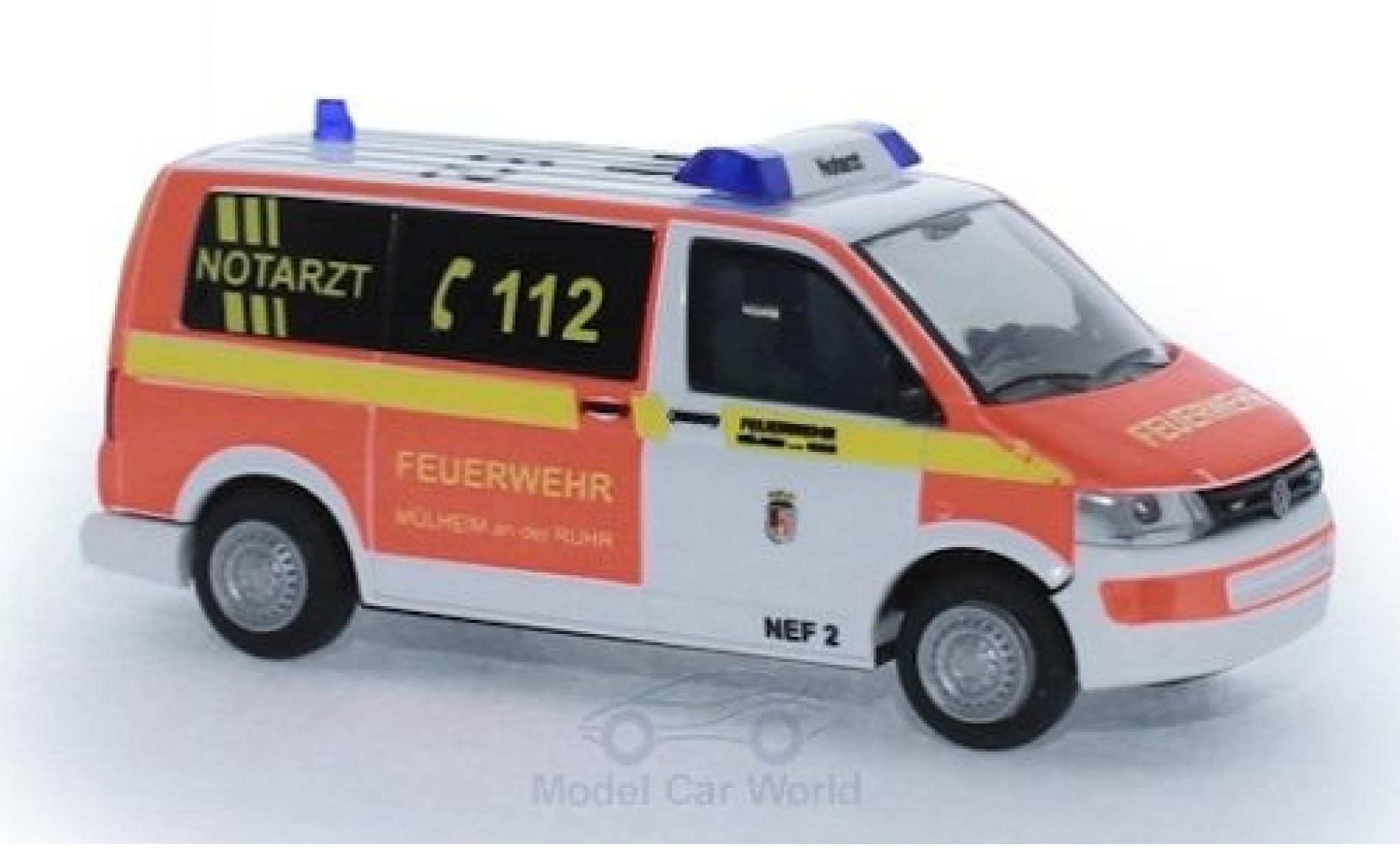 Volkswagen T5 1/87 Rietze Notarzt Feuerwehr Mühlheim/Ruhr