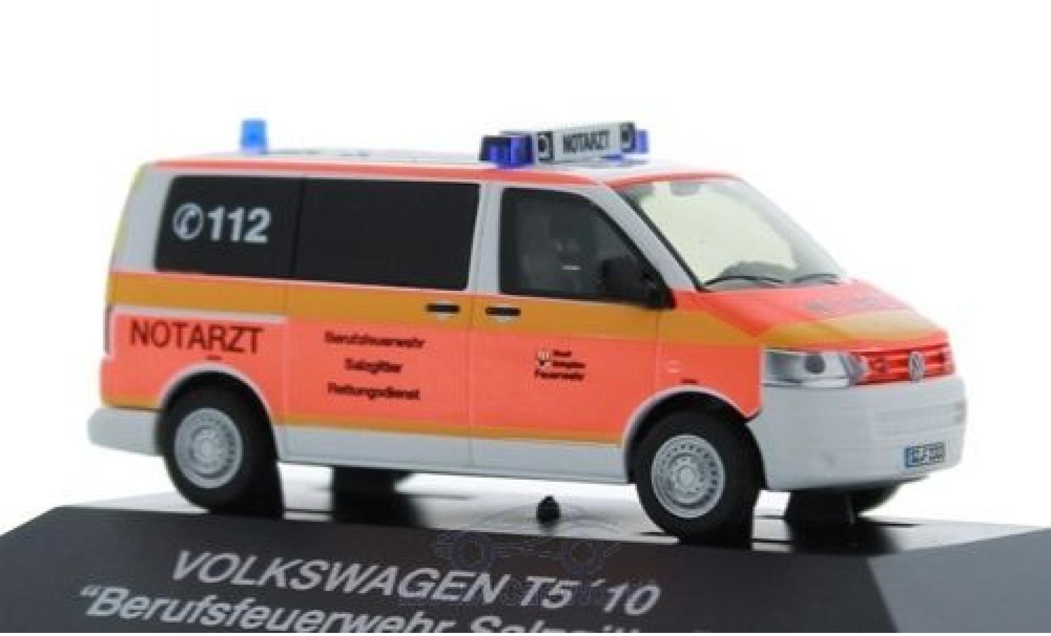 Volkswagen T5 1/87 Rietze Notarzt Feuerwehr Salzgitter 2010