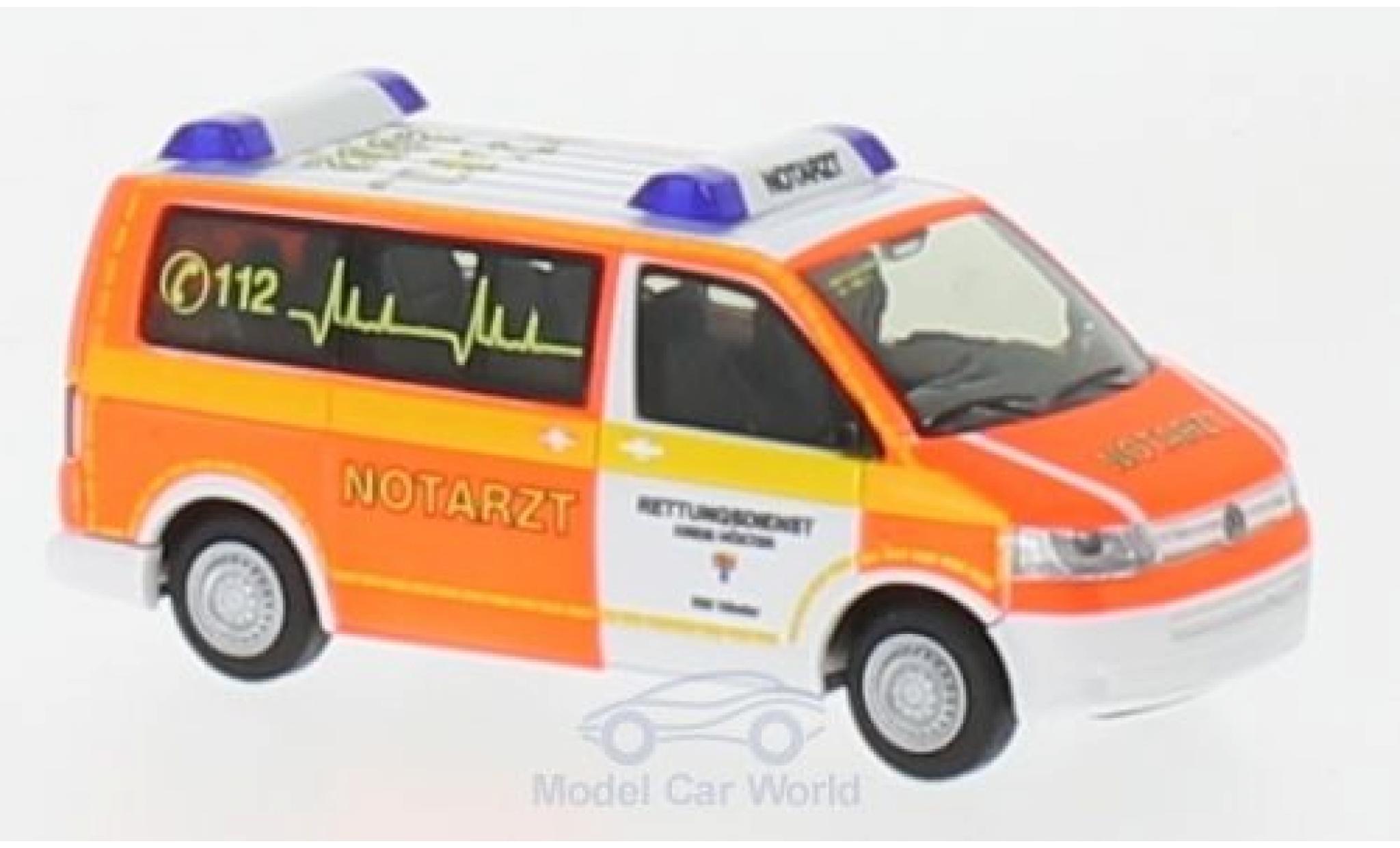 Volkswagen T5 1/87 Rietze Notarzt Rettungsdienst Höxter 2010