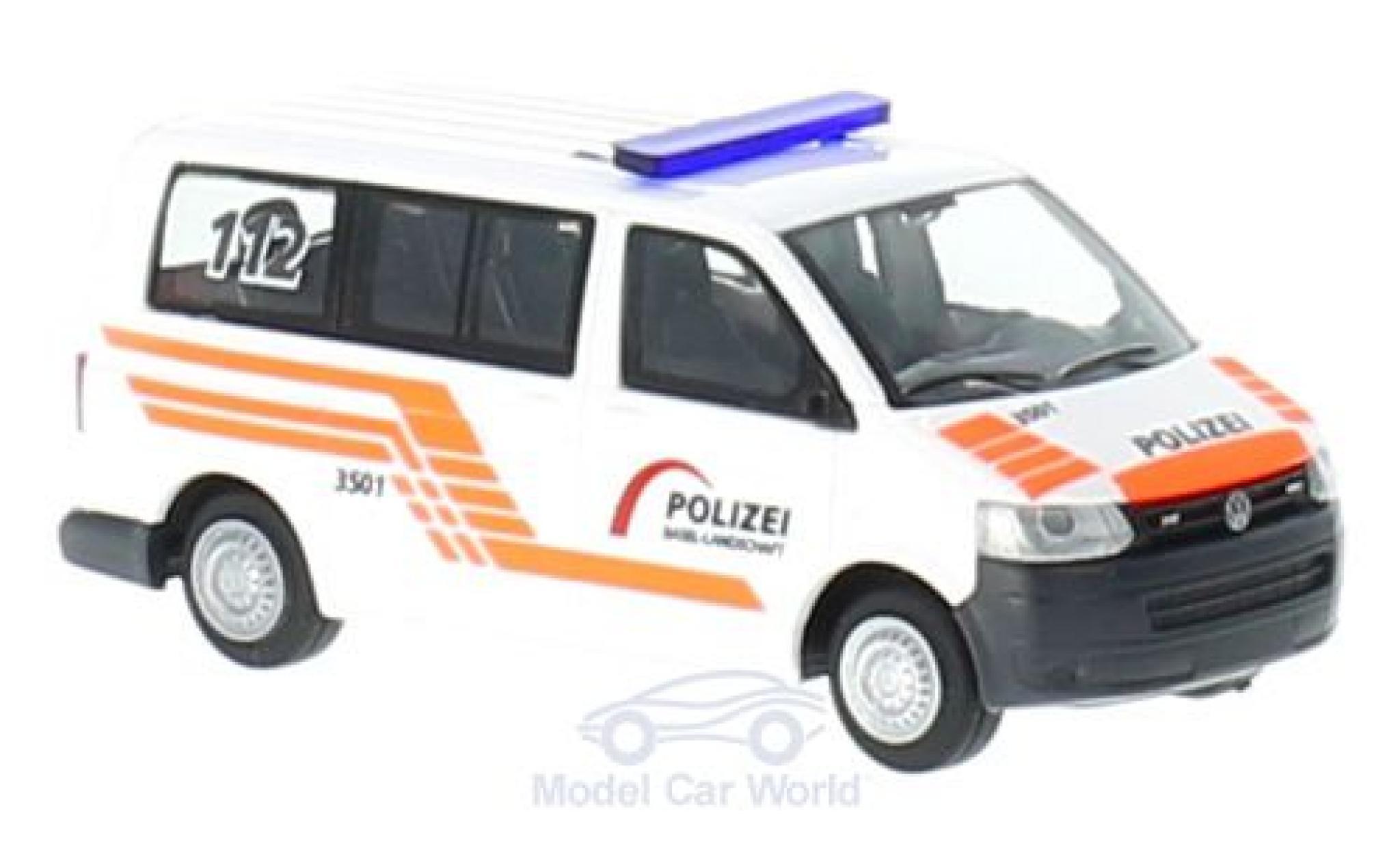 Volkswagen T5 1/87 Rietze Polizei Baselland (CH) ohne Vitrine