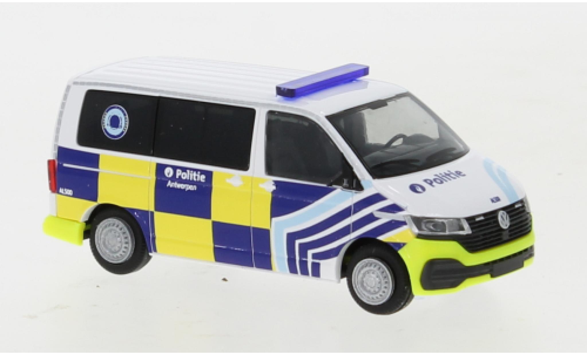 Volkswagen T6 1/87 Rietze .1 Bus Politie Antwerpen (B)