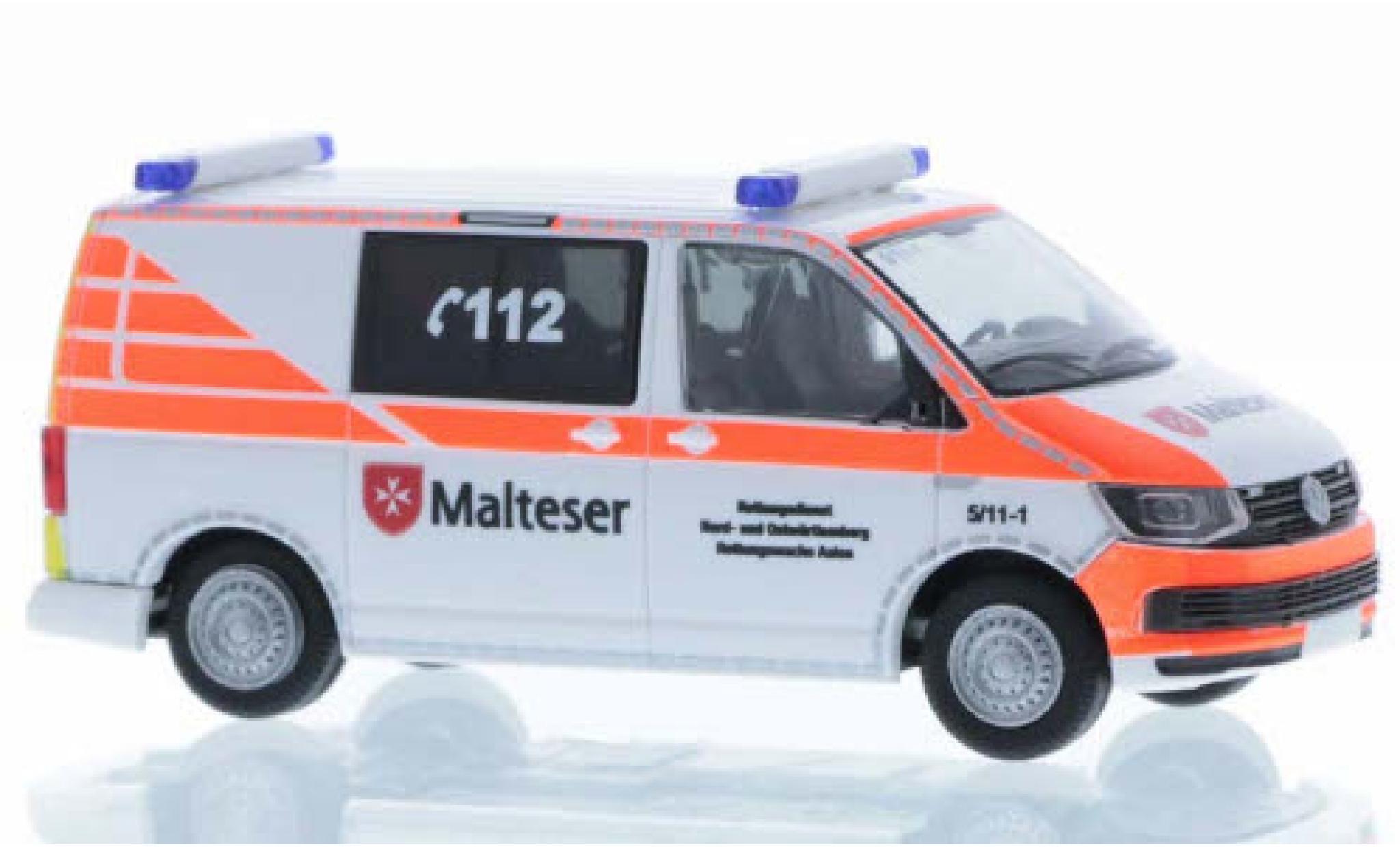 Volkswagen T6 1/87 Rietze Malteser Aalen court- empattement
