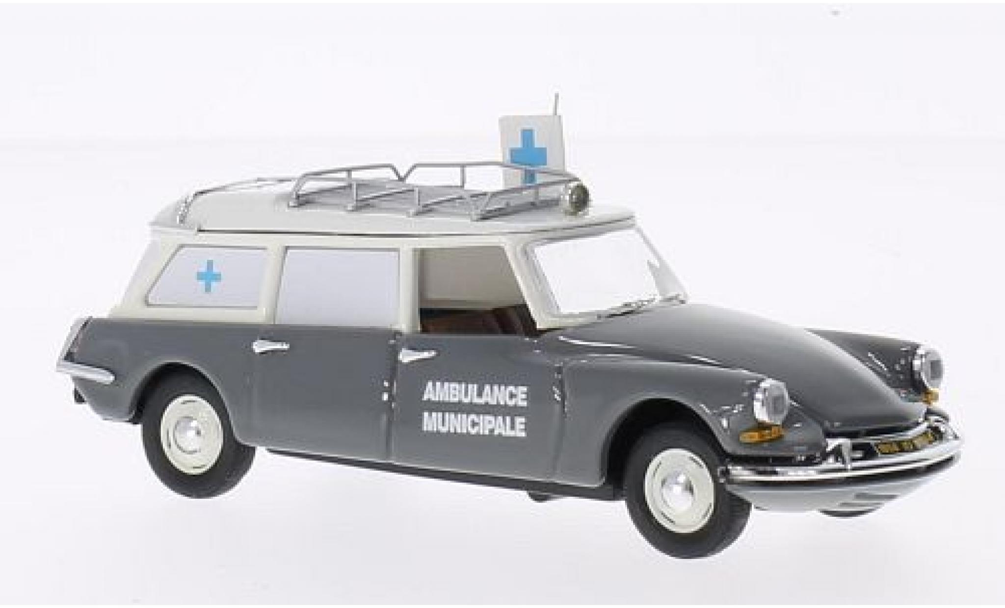 Citroen DS 1/43 Rio 19 Break grise/beige Ambulance Municipale 1962