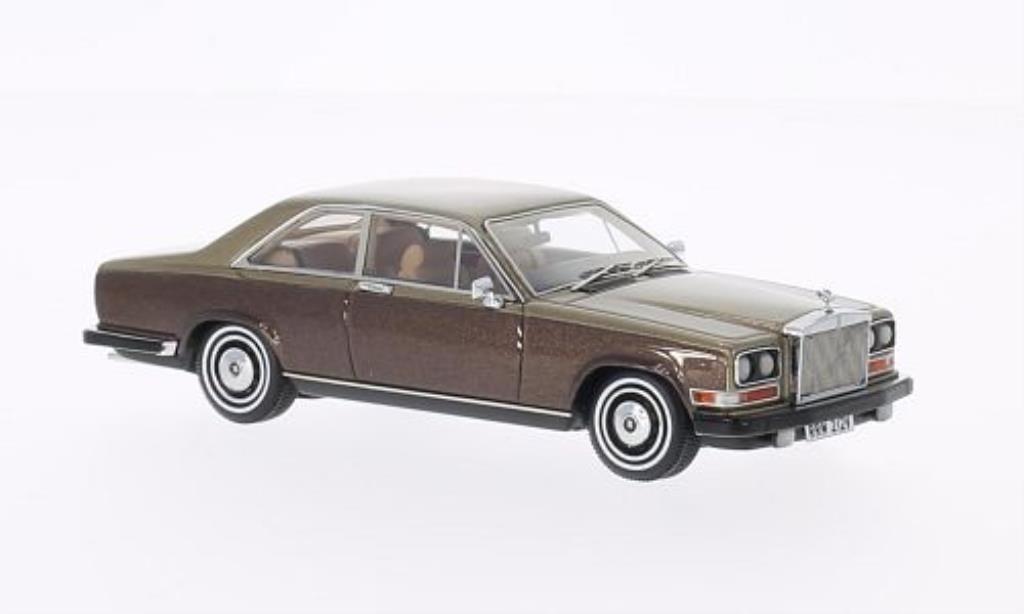 Rolls Royce Camargue 1/43 Neo marron/gold 1975 miniature