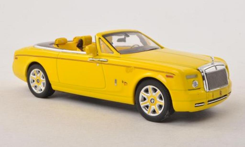 Rolls Royce Phantom 1/43 IXO Drophead Coupe Bijan Pakzad jaune miniature