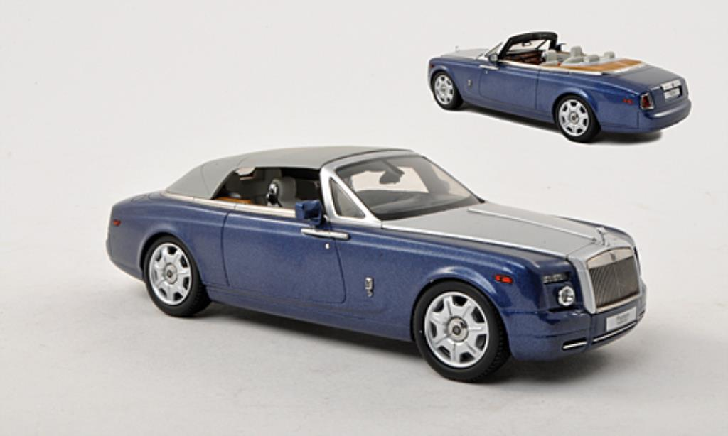 Rolls Royce Phantom 1/43 Kyosho Drophead Coupe bleu/grise LHD miniature