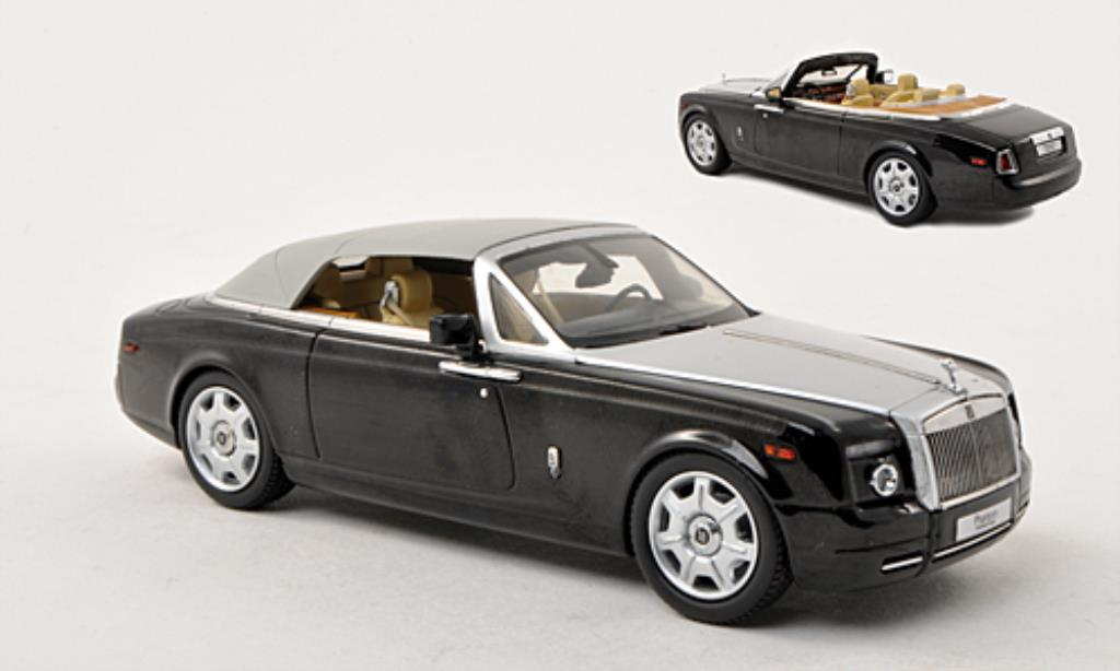 Rolls Royce Phantom 1/43 Kyosho Drophead Coupe black/gray LHD diecast