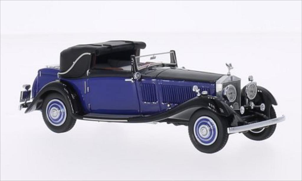 Rolls Royce Phantom 1/43 Neo II Continental DHC Gurney Nutting bleu/noire RHD miniature