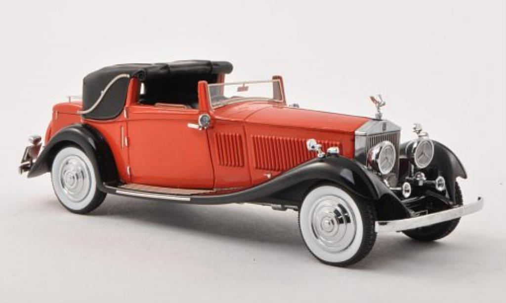 Rolls Royce Phantom 1/43 Neo II Owen Sedanca Coupe Gurney Nutting (64PY) rouge/noire RHD 1934 miniature
